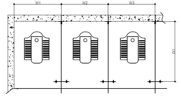 卫生间隔断安装地面画线