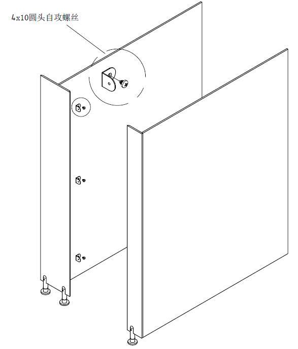 卫生间隔断中柱板, 卫生间隔断边柱板, 角码