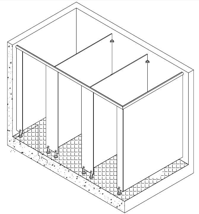 卫生间隔断压杆