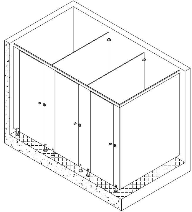 卫生间隔断门, 卫生间隔断门锁